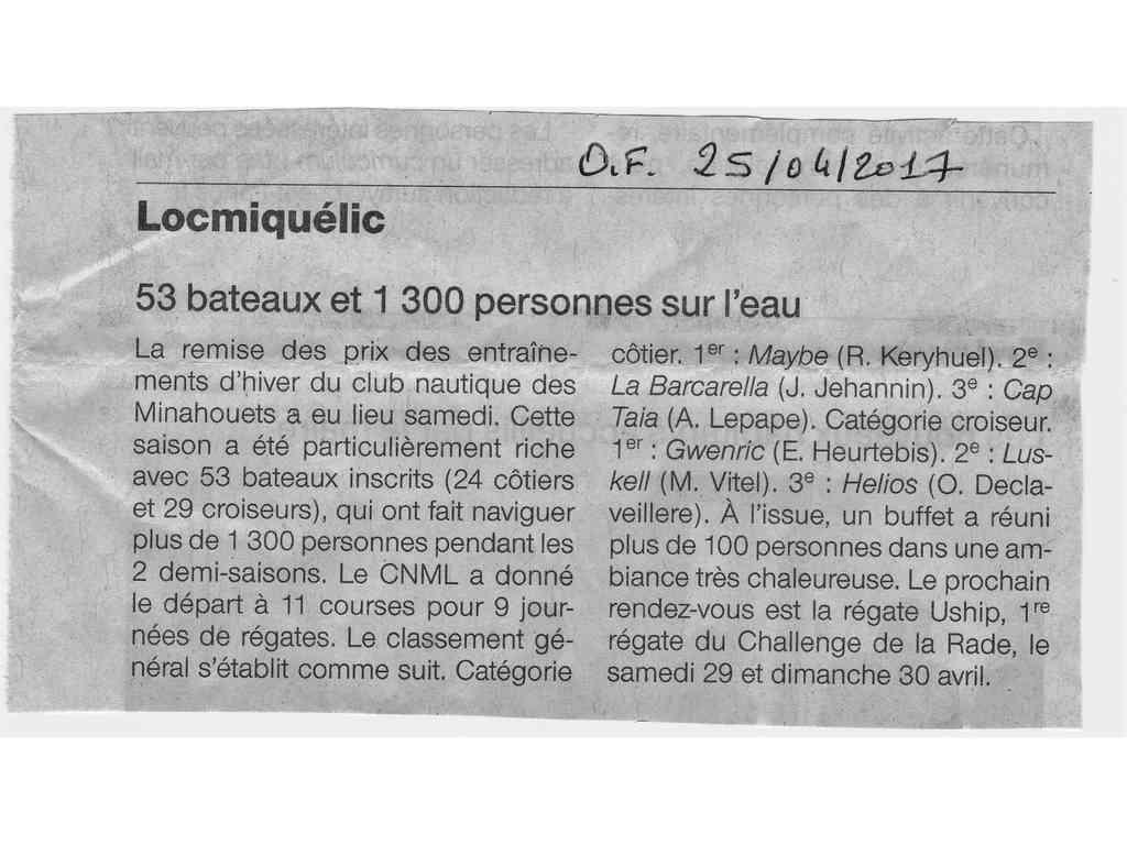 Ouest-France parle du CNML