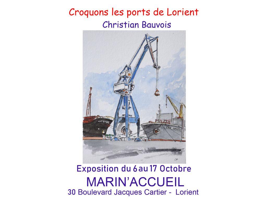 Exposition: Croquons les ports de Lorient