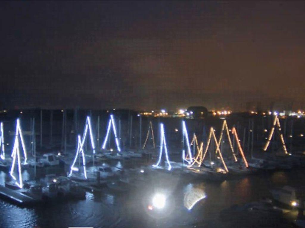 Illumination du port de Sainte-Catherine
